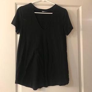 Black Vneck T-Shirt